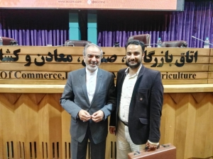 With Mr.Ansari, Iranian Ambassador to Singapore